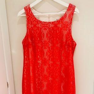 Red Midi Dress Size L NEW